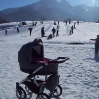 Bebetto Luca on snow