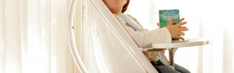Otroški stolček za hranjenje mima MOON