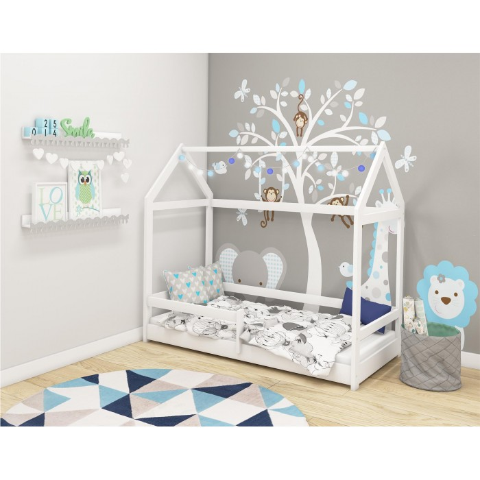 Postelja 4kids House White
