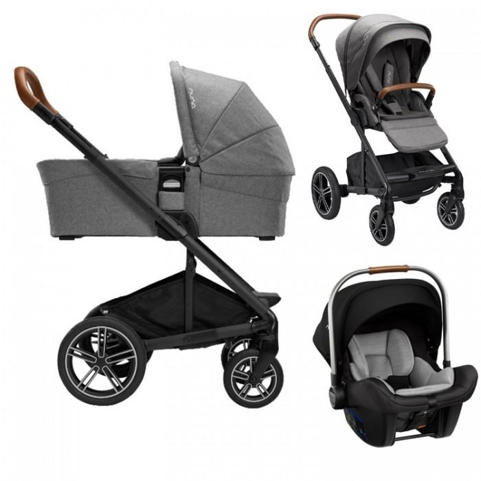 Nuna Otroški voziček Mixx Next 3v1 | Granite + Pipa™ Lite 0+ LX + Isofix baza